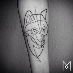 Animal tattoos are his favorites.