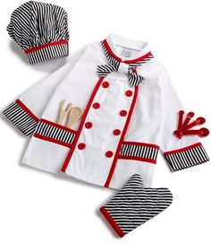 Dress Up Outfits, Cute Outfits, Dresses, Chef Costume, Kids Apron, Sewing Clothes, Fancy Dress, Chef Jackets, Mini