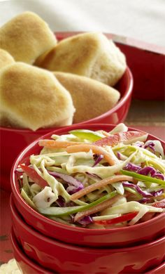 Marzetti Original Slaw Dressing mixed with both barbecue and hot sauce gives classic coleslaw a spicy kick. Slaw Dressing, Cabbage Head, Carrot Greens, Vegetarian Barbecue, Vegetable Salad, Coleslaw, Summer Salads, Casseroles, Side Dishes