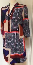 anthropologie Maeve sz 4 boho sheath dress color block mod hip bohemian dress