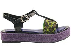 Kenzo 235187 in Black Green Leopard at Solestruck.com