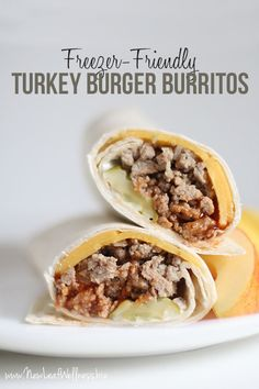 Stock your freezer with these turkey burger burritos and you'll never want to eat out again. They're healthy, budget-friendly, and so easy to make! Reasons I love these Turkey Burger Burritos: They'r Healthy Freezer Meals, Make Ahead Meals, Freezer Cooking, Beef Meals, Batch Cooking, Crockpot Meals, Meals Made With Ground Turkey, Ground Turkey Recipes, Real Food Recipes