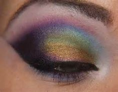 I was inspired by this oil slick eyeshadow with the sparkly look that remind of water.