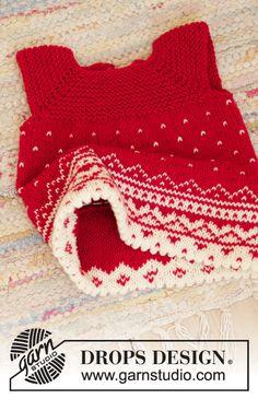 Christmas Cora / DROPS Children 35-15 - Gratis strikkeoppskrifter fra DROPS Design