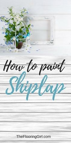 How to paint shiplap walls. #shiplap #farmhouse #farmhousestyle #homedecor #rustic #farmhousestyle #diy #painting #diyhomedecor