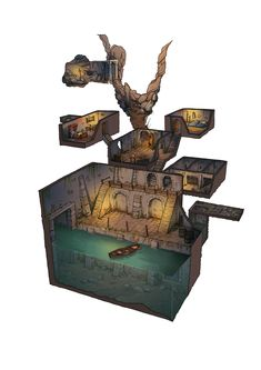 Undercity Sewer River boat
