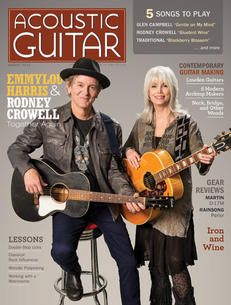 Acoustic Guitar magazine, issue no. 248, featuring Emmylou Harris and Rodney Crowell on the cover.