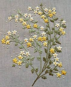 Wonderful Ribbon Embroidery Flowers by Hand Ideas. Enchanting Ribbon Embroidery Flowers by Hand Ideas. Embroidery Patterns Free, Embroidery Needles, Hand Embroidery Stitches, Silk Ribbon Embroidery, Crewel Embroidery, Hand Embroidery Designs, Cross Stitch Embroidery, Simple Embroidery, Embroidery Supplies