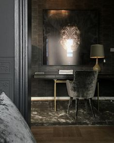 Home Decorators Collection Rugs Interior Design Magazine, Black Interior Design, Classic Interior, Dark Interiors, Hotel Interiors, Office Interiors, Amelie, Rue Verte, Central Park Apartments