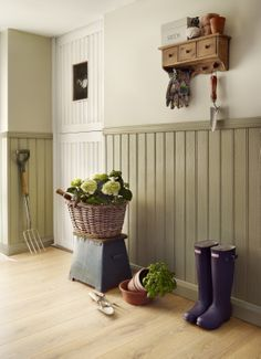 tongue and groove panelling in hallway - Google Search