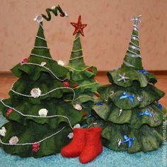 Купить Елка - тёмно-зелёный, елка новогодняя, елка ручной работы, елочка, елочные шары