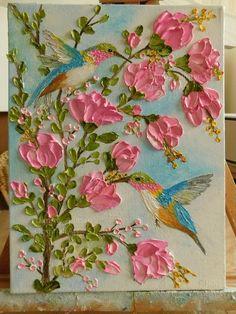 Custom Hummingbird Impasto Painting, Hummingbird Oil Painting, Bird Painting - paint and art Abstract Canvas Art, Acrylic Canvas, Abstract Oil, Abstract Paintings, Oil Paintings, Bird Paintings On Canvas, Artist Canvas, Canvas Canvas, Landscape Paintings