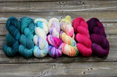 Yarn color KIT Find Your Fade 7 skeins combo Pirates of