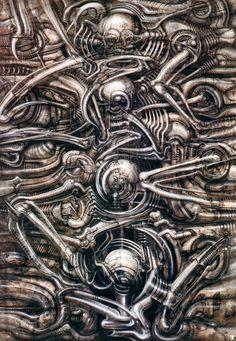 H.R. Giger (Hans Rüdi Giger) #hrgiger #scifi #sciencefiction #art #surreal #surrealism