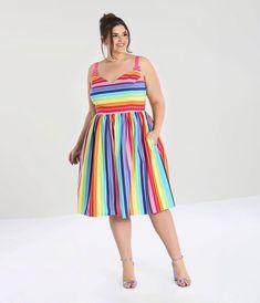 Vintage Dresses - Retro & Vintage-Inspired Dresses – Unique Vintage 50s Dresses, Unique Dresses, Summer Dresses, Awesome Dresses, Vintage Dresses, Rainbow Outfit, Vintage Looks, Unique Vintage, Retro Vintage