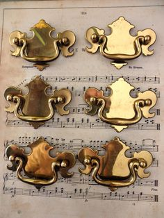drawer pulls for furniture. 6 vintage brass drawer pulls furniture dresser by junquedujour 2495 for r