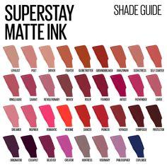 Maybelline Matte Lipstick, Superstay Maybelline, Red Liquid Lipstick, Lipstick Swatches, Makeup Swatches, Matte Lipstick Shades, Mac Lipstick, Lipsticks, Lip Makeup