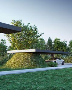 Outdoor Sofa, Outdoor Furniture, Outdoor Decor, Golf Courses, Arch, Layout, Garage, House, Home Decor