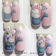 Nail Designs and Ideas 2019 Any lady who cares about how she looks thinks what manicure will best fit the chosen outfit and what types of nails are in the trend at a time. Stylish Nails, Trendy Nails, Cute Nails, Manicure Nail Designs, Manicure E Pedicure, Nail Designs Spring, Cool Nail Designs, Nail Swag, Spring Nails