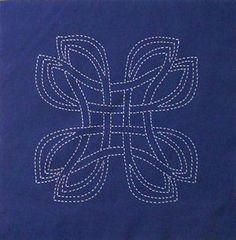 Danu, Scarlett's Celtic knot design preprinted for sashiko.