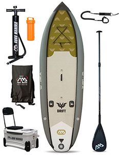 DRIFT Fishing Specialist SUP Inflatable Stand Up Paddle Board (10ft 10in / 3m)…
