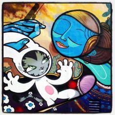 BunnyKitty et Maman! by Persue. 29mar14. San Diego, CA.