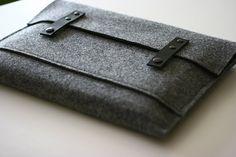 felt and leather macbook air sleeve