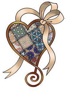 ArtbyJean - Paper Crafts: ---HEARTS - Bronze Curl