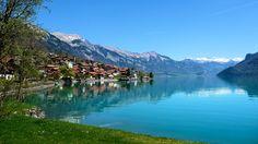 Oberried am Brienzersee, Lake Brienzersee, on train journey from Interlaken to Lucerne, Switzerland
