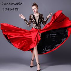 >> Click to Buy << 2017 Latin dance pasodoble dance skirt Cape race suits red and black flamenco skirts #Affiliate