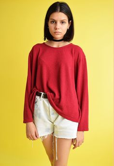 90's retro grunge oversized  knitted top jumper