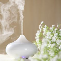 2013 Newest Design Novelty PP White Ultrasonic Cool Mist Air Humidifier Electronic Humidity Fragrance Aroma Diffuser