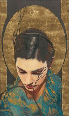 """Artist: Manuel Nunez """"Reverence"""" Giclee with 23kt. Gold Leaf 250 s/ n 15.5"""