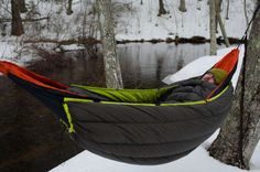 Eagles Nest Outfitters Blaze Underquilt Makes Hammocks Cozy in the Cold. eaglesnestoutfittersinc and gearjunkie