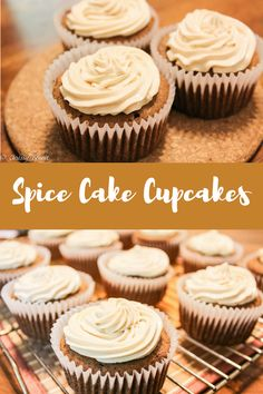 Spice Cake Cupcakes with Maple Brown Sugar Cream Cheese Icing (THM S) - Chrissy Benoit In Love Thm Recipes, Cupcake Recipes, Cupcake Cakes, Dessert Recipes, Cup Cakes, Healthy Recipes, Spice Cupcakes, Spice Cake, Keto Cupcakes