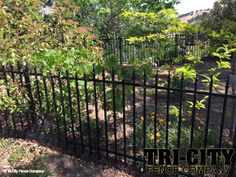 Quality metal garden fence by Tri-City Fence
