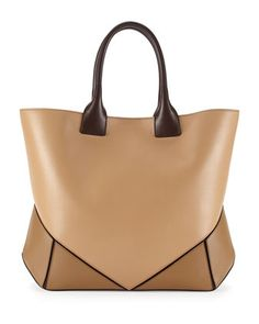Easy+Tricolor+Leather+Tote+Bag,+Camel+Multi+by+Givenchy+at+Bergdorf+Goodman.