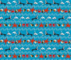 océan_oh_bleu_M fabric by nadja_petremand on Spoonflower - custom fabric