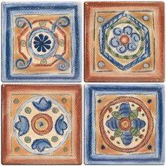 Smart Tiles 3-11/16 in. x 3-11/16 in. Terra Cotta Santa Fe Gel Tile Decorative Wall Tile (4-Pack)-2006S at The Home Depot