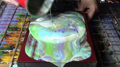 Acrylic Paint Pouring Demo. Fluid Painting Mixing Ratios Explained.