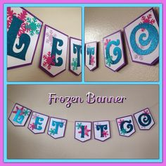 A personal favorite from my Etsy shop https://www.etsy.com/listing/266668165/let-it-go-frozen-banner