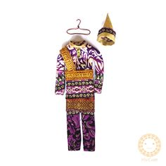 Baju kurung melayu miniatur, 20cm