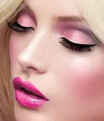 Resultado de imagen para maquillaje fucsia dorado