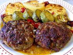 Greek Cooking, Greek Recipes, Baked Potato, Carne, Lamb, Steak, Recipies, Food And Drink, Pork