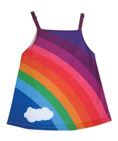 Look at this Deezo Rainbow Cloud Swing Dress - Toddler & Girls on #zulily today!