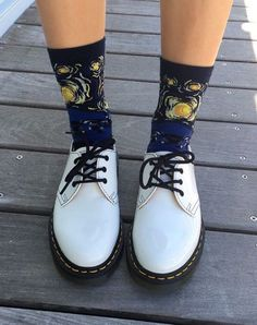 Docs and Socks: the 1461 Virginia shoe. Shared by mdna666.