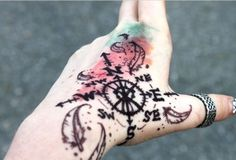 Awesome compass tattoo. I love this.