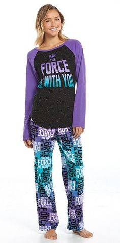 Star Wars Pajamas: Knit Top & Microfleece Pants Pajama Set - Juniors
