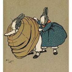 Cecil Aldins Merry Party 1913 Bunny crinoline Canvas Art - Cecil Aldin (18 x 24)