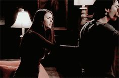 The way Elena calms Damon down just by making eye contact is every girls dream with their special someone... Like me